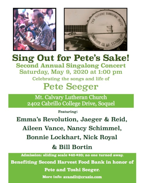 """Second Annual Singalong """"For Pete's Sake"""""""